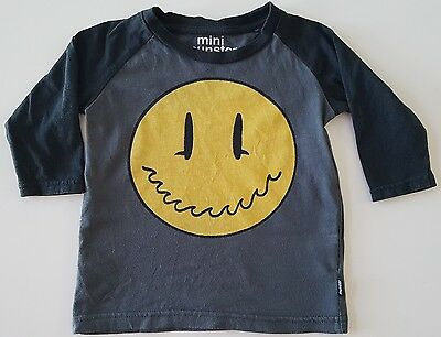 Mini Munster boys long sleeve tee - Size 6-12 months