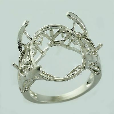 Semi Mount Oval Shape Natural Ring 13x18 MM Authentic Solid Gold Women Jewelry