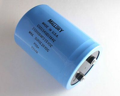 Mallory 500uF 250V Large Can Electrolytic Capacitor CGS501T250R4C