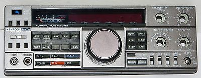 KENWOOD R-5000 FRONT PANEL + FRAME w/ TUNING KNOB + ENCODER + S METER + SWITCHES