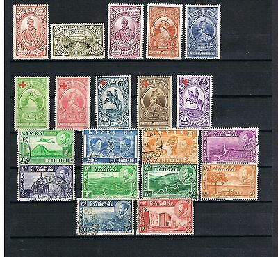 ETHIOPIA, small old collection MH and used stamps, see scan   049