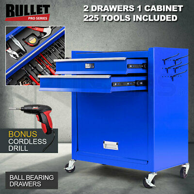 Bullet 881 Piece Metric Tool Kit Cabinet Trolley Tool Box Mechanic Toolbox Set