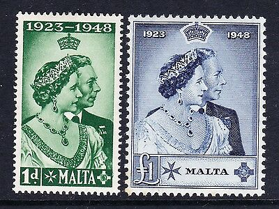 Malta 1948 Royal Silver Wedding Sg 249-250 Mint.