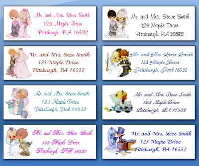 150 Personalized Custom Clear Glossy Wedding Envelope Stickers Address Labels