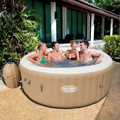 Bestway Palm Springs Inflatable Lay Z Spa Portable Hot Tub Jacuzzi Massage Pool