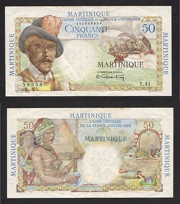 MARTINIQUE  P-30. (1947-49) 50 Francs..  aEF