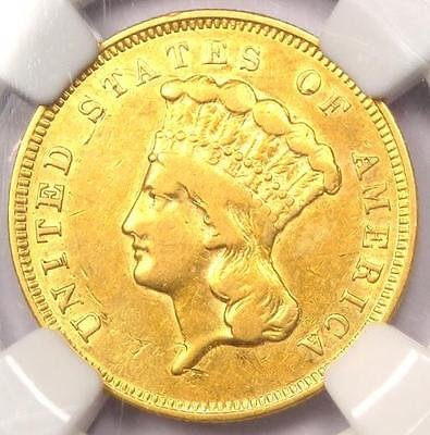 1857-S Three Dollar Indian Gold Coin $3 - Certified NGC XF Details (EF) - Rare!