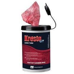 Stockhausen KGT72W KrestoGT Cherry Scrubbing/Cleaning Wipes, 70 Count