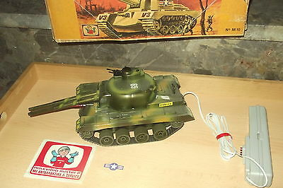 VINTAGE rare greek MITROPLAST Mister P Panzer PANTHER remote controlled tank 1A