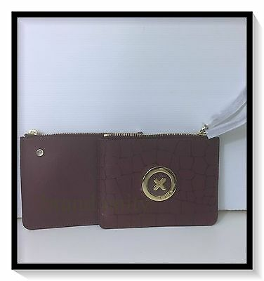 Mimco Duo Sonica Pouch Wallet Makeup  Clutch Brand New with Tags Bordeaux RRP149