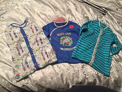 Next Boys Sleepsuits Bundle 18-24 Months / 1.5 To 2 Years Brand New 3 Pack