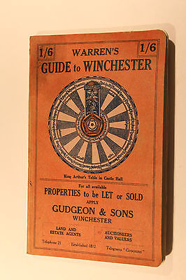 Vintage 1932 Warren's Guide to Winchester Book 193 Pages Two Foldout  Maps GC