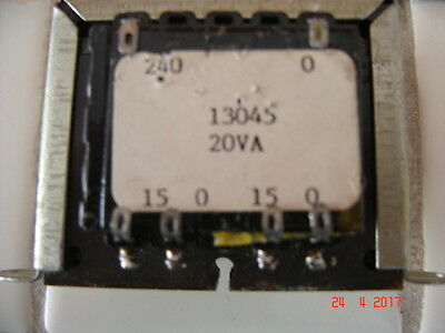 240 Volt,primary, 0-15, X, 0-15, Volt Secondary, 20Va, Transformer