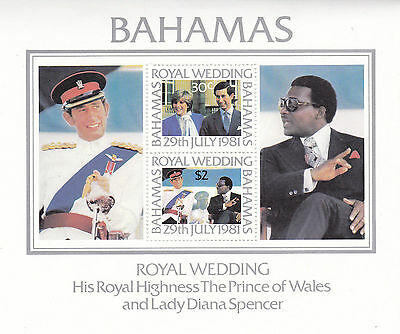 Bahamas 1981 Royal Wedding Miniature Sheet Mnh