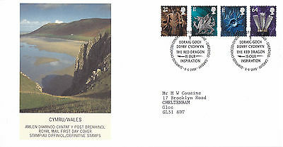 8 June 1999 All 4 Wales Definitives Royal Mail First Day Cover Cardiff Shs