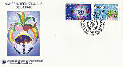 United Nations 1986 Year Of Peace Unaddressed First Day Cover New York Shs