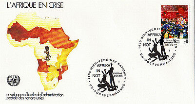 United Nations 1986 Africa In Crisis First Day Cover Vienna Shs