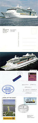 Bahamas Cruise Ship Jewel Of The Seas 2 Ships Cached Covers Picture & Postcard