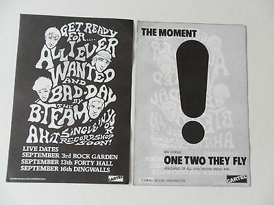 The Moment One Two They Fly B-Team flyer. Mod revival