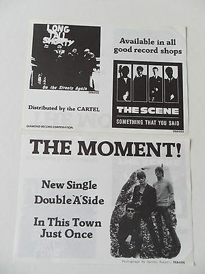 The Moment In This Town Just Once flyer. Mod revival