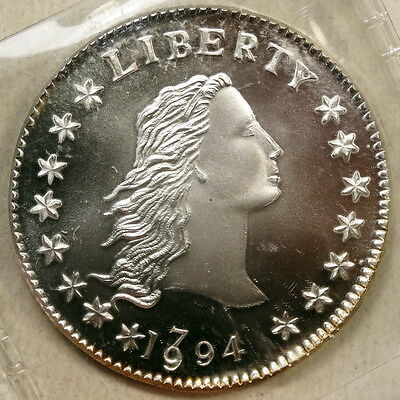 "1994 Gallery Mint Restrike, Dual Dated ""1794"" Silver Dollar, Very Scarce"