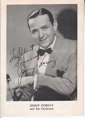 Jimmy Dorsey Autographed Photo Legendary Jazz Clarinetist D.57