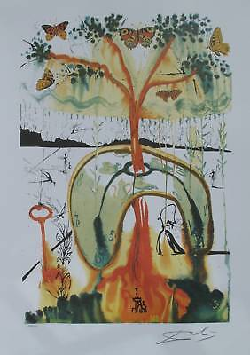 """Salvador Dali """"MAD TEA PARTY"""" Signed Numbered Art Lithograph"""