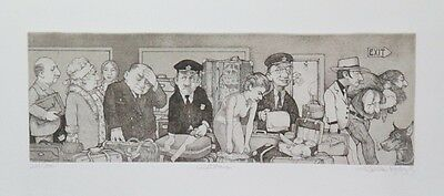 Striking Limited Edition Caricature Etching Print by the Talented Charles Bragg!
