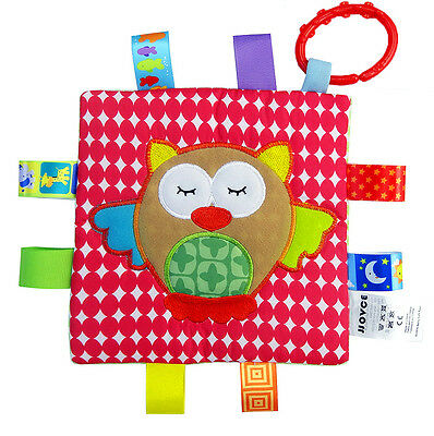 Newborn Baby Child Kids Crinkle Squeaky Soft Cloth Blanket Toys - owl