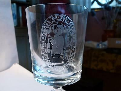 Old Peculier THEAKSTON'S Masham Brewery Glass GOBLET 1985 Ltd Ed Boxed 32/600