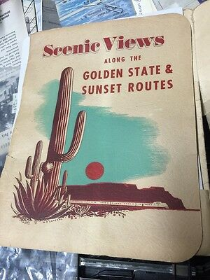 Old 16 Colored Scenic Views Folio Of The Southern Pacific Lines