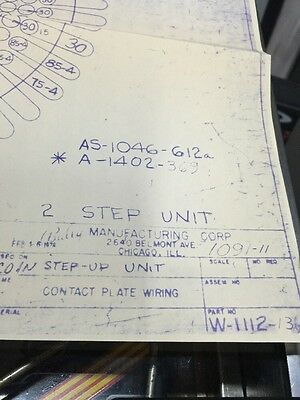 Bally Manufacturing Coin Step-up Unit  #1090-11 Schematic