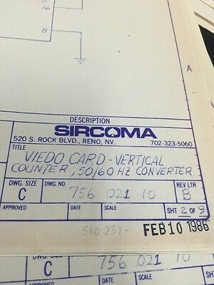 Sircoma Video Card Vertical Counters #756-021-10 Schematic