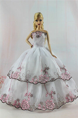Fashion Princess Party Dress/Evening Clothes/Gown For Barbie Doll S357U