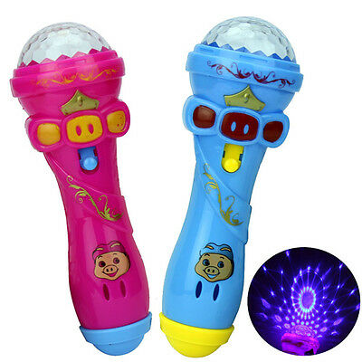 Flashing Projection Microphone Baby Learning Machine Educational Toy JX