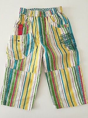 Kenzo Kids Boys Linen And Cotton Striped Trousers Size 2 Years