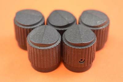 Lot of 5 Small Round Knob, Black MS91528-1D2B