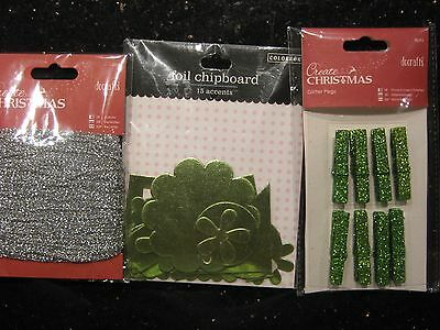 BNIP set of Glitter and Foil embellishments from docrafts