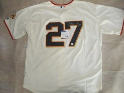 Signed San Francisco Giants Authentic Autographed Jersey by Juan Marichal