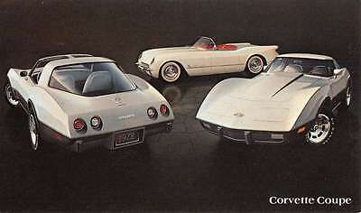 1978 Chevrolet Corvette Coupe Early Automobile Car Vintage Postcard K66681