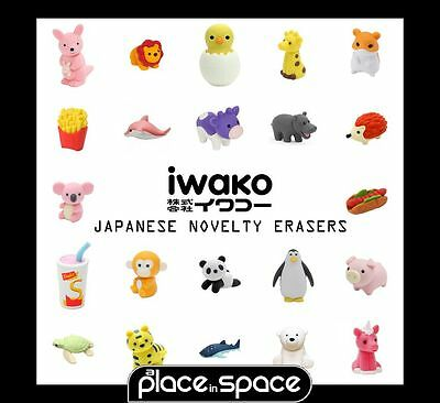 Iwako Japanese Novelty Erasers/rubbers - Zoo, Farm, Unicorn, Food, Animals