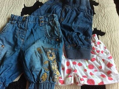 3 x girls 6-9 months shorts inc Next safari