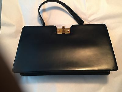 Vintage Jerry Moss Holiday Bag, Black Leather Purse- Rare *Easter Sunday* Wow!