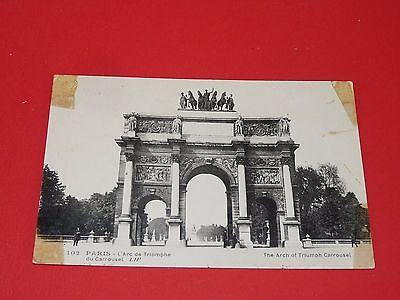 Cpa Carte Postale 1900-1910 Paris Arc De Triomphe Du Carrousel Ile De France
