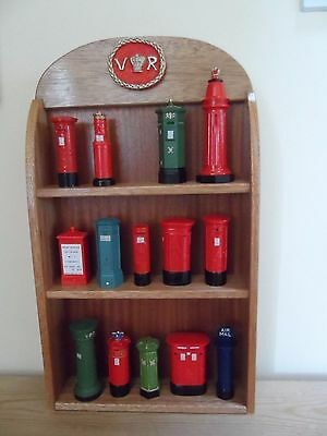 Pillar Box Collection and wooden display - limited edition