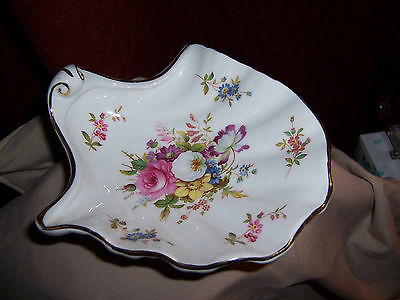 Bone China Footed Shell Shaped Dish Hammersley England Howards Sprays