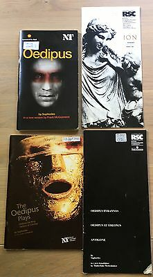 4 X GREEK TRAGEDY PLAYS Sophocles THEATRE PROGRAMMES  Ion Oedipus Euripides