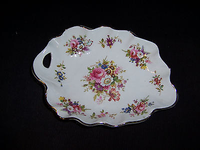 Bone China Scallop Floral Relish Or Trinket Dish Hammersley England