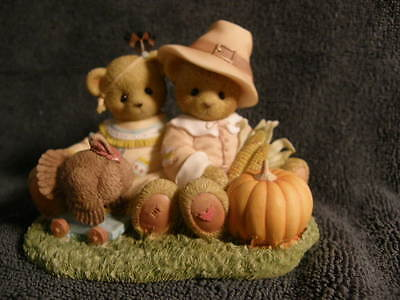 Cherished Teddies  WIN AND ISSAC THANKFUL FOR TOGETHERNESS   NEW   SIGNED