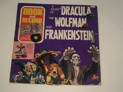 Power Records Dracula Wolfman and Frankenstein LP comic 1970's Neal Adams Art